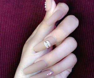 chanel, diamond, and long nails image