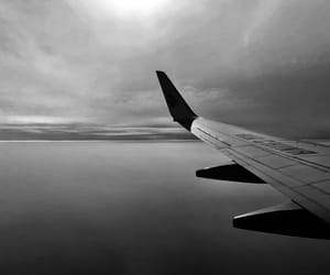 aircraft, airplane, and monochrome image