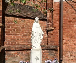 apple tree, Virgin Mary, and statue image