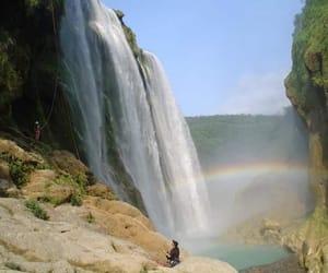agua, cascada, and arbol image