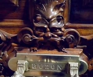 demon, door, and Letter image