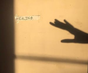 healing, shadow, and yellow image