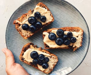 aesthetic, banana bread, and blueberries image