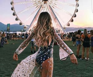 coachella, girl, and festival image
