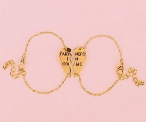 bracelet, gold, and pink image