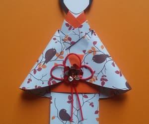 card, orange, and origami image