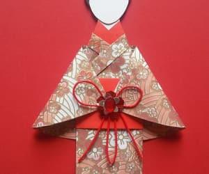 card, origami, and efoxkitsune image