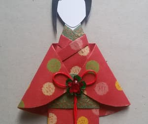 card, green, and origami image