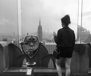 black and white, empire state building, and new york image