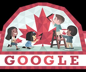 summer, canada day, and googledoodles image
