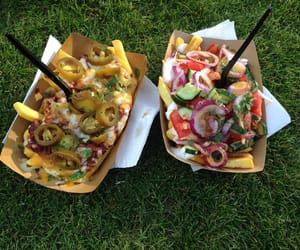 chilli, chips, and vegetarian image