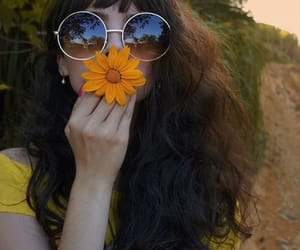 flowers, girl, and retro image