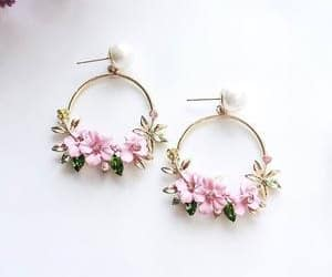 earrings, floral, and lavender image
