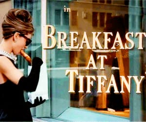 Breakfast at Tiffany's, audrey hepburn, and gif image