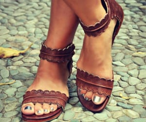 chic, fashion, and sandals image