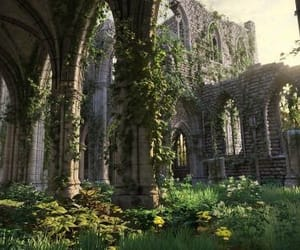 castle, fantasy, and nature image