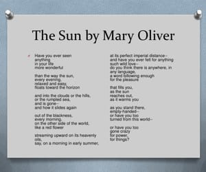 poem, the sun, and mary oliver image