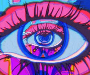 gif, eyes, and trippy image