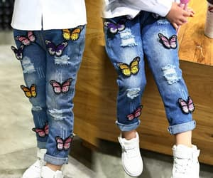 fashion, jeans, and butterfly jeans image