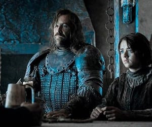 arya stark, game of thrones, and the hound image