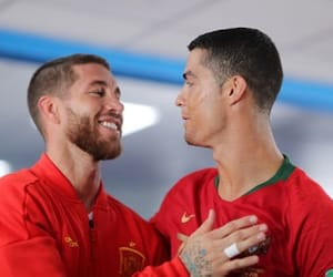 cristiano ronaldo, sergioramos, and worldcup2018 image