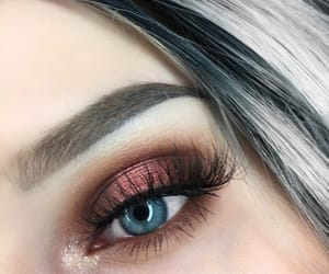 eyeshadow, makeup, and blue eyes image
