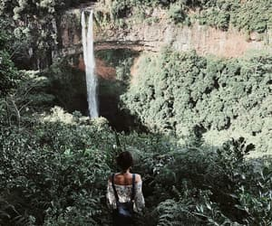 adventure, girl, and green image