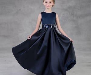 long dress, satin dress, and wedding party dress image