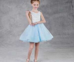 summer dress, tulle, and sky blue dress image