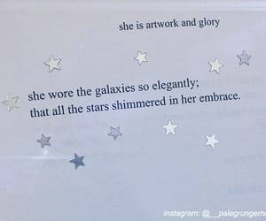 galaxy, girl, and quotes image