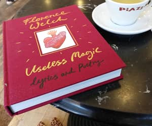 books, cafe, and florence and the machine image