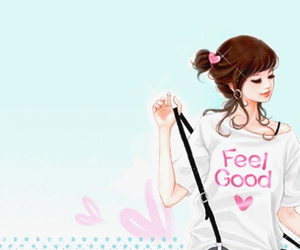 feel good and heart image