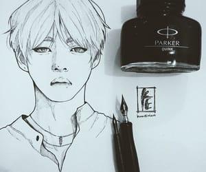 art, bts, and taehyung image