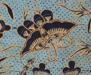 antique, floral, and butterfly image