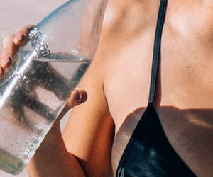 water, summer, and skin image