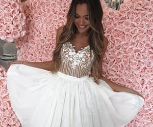 white homecoming dresses and a-line homecoming dresses image