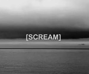 scream, black and white, and quotes image