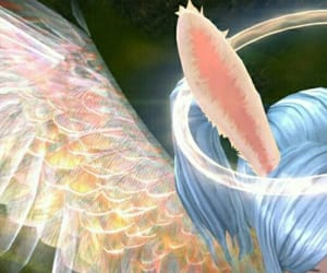 Angel Wings, pigtails, and blue image