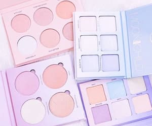 pastel, makeup, and blue image