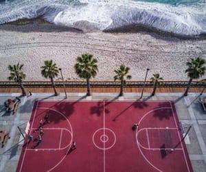 beach, Basketball, and sea image