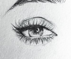 art, eyelash, and drawing image