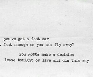 tracy chapman, fast car, and Lyrics image