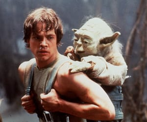 star wars, yoda, and LUke image