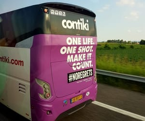 bus, noregrets, and life image
