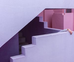 lilac, photography, and stairs image