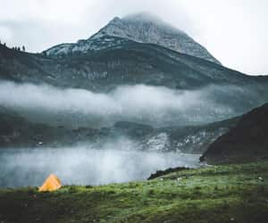 camp, mountain, and nature image