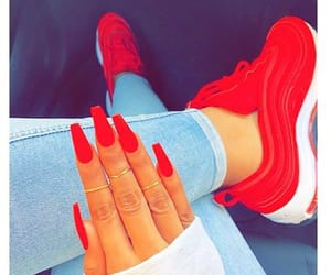 nails, red, and shoes image