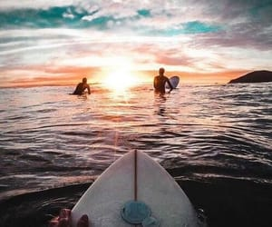 surf, surfing, and ocean image