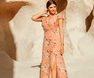 cappadocia, outfit inspiration, and floral print dress image