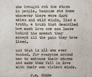 quotes, storm, and words image